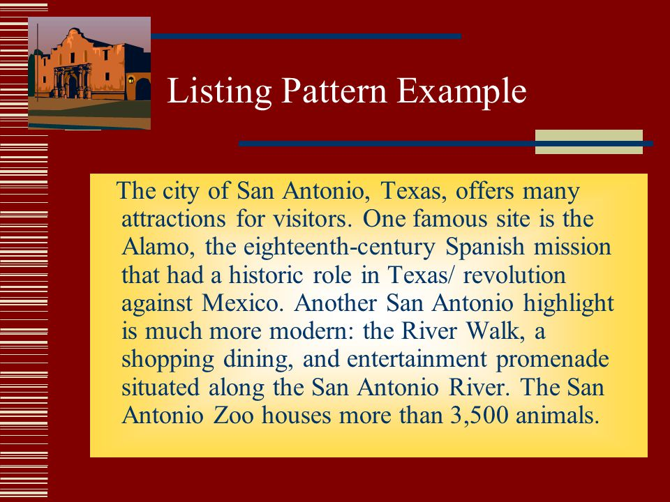 Listing Pattern Example