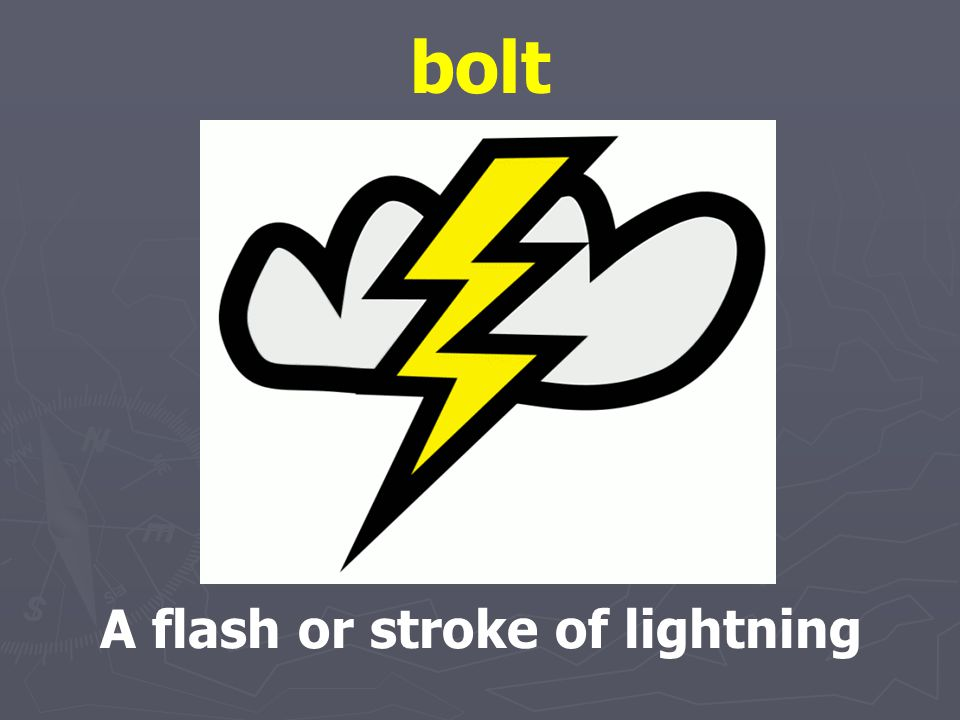 A flash or stroke of lightning