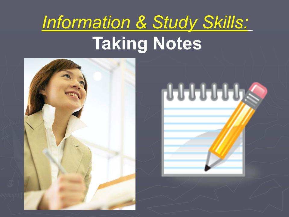 Information & Study Skills: