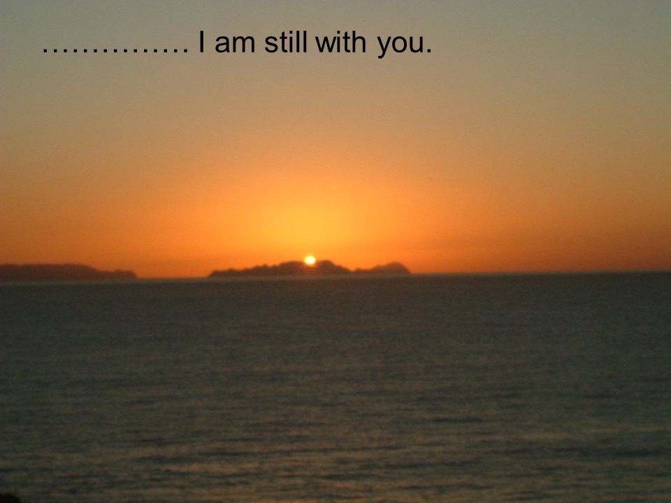 …………… I am still with you.