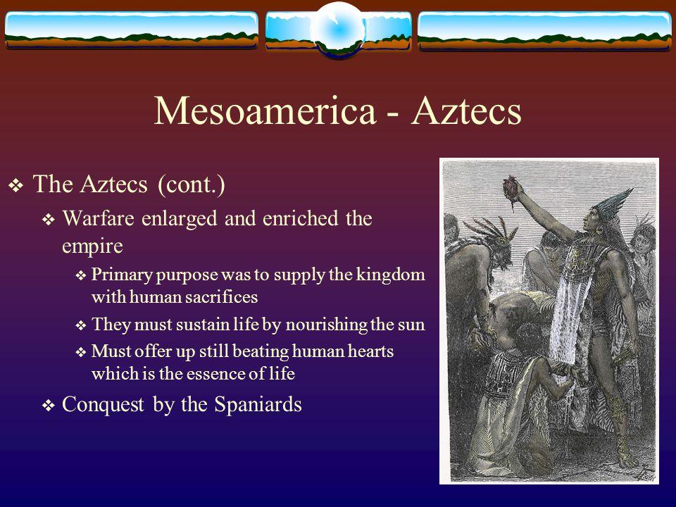Mesoamerica - Aztecs The Aztecs (cont.)