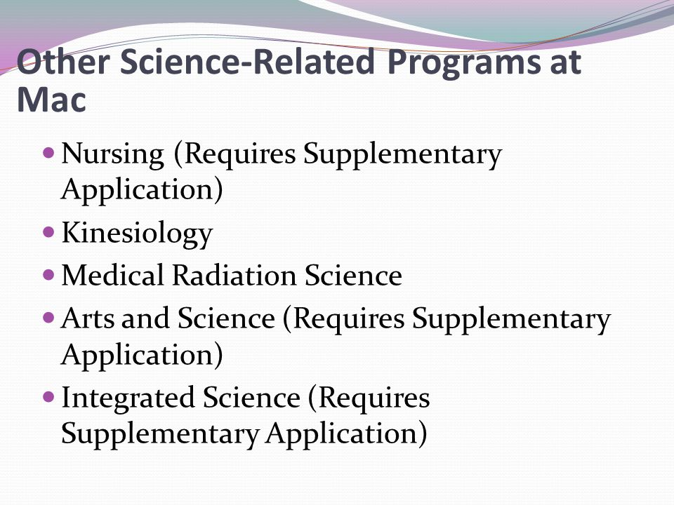 Other Science-Related Programs at Mac