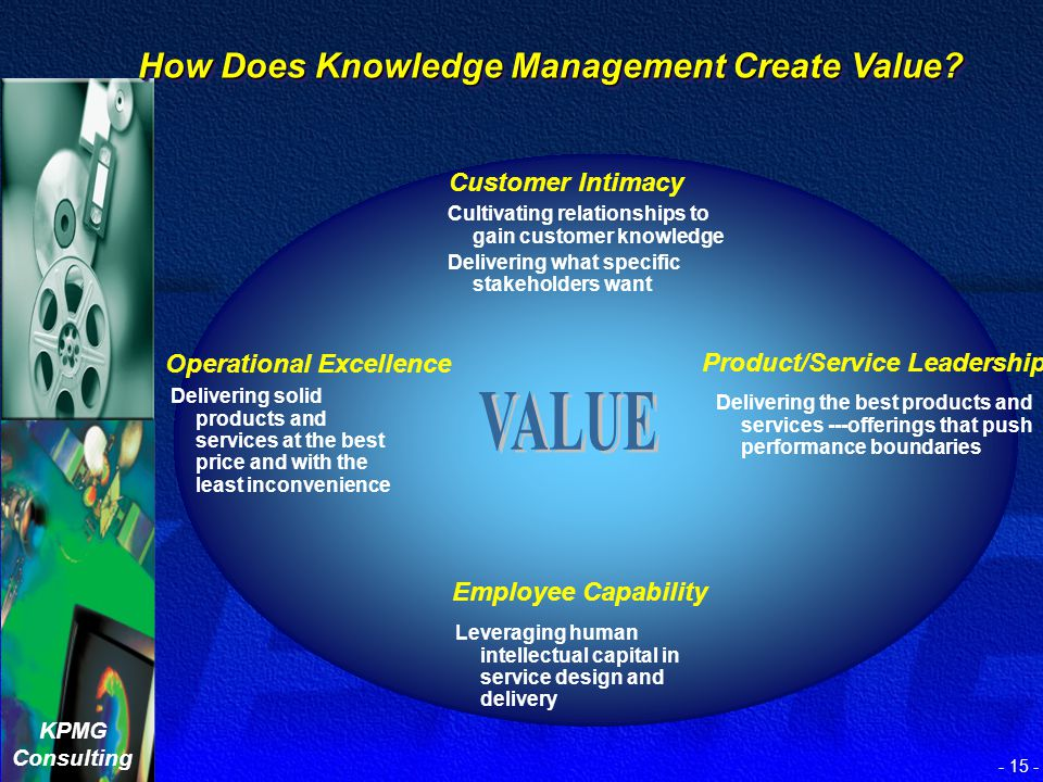 VALUE How Does Knowledge Management Create Value Customer Intimacy