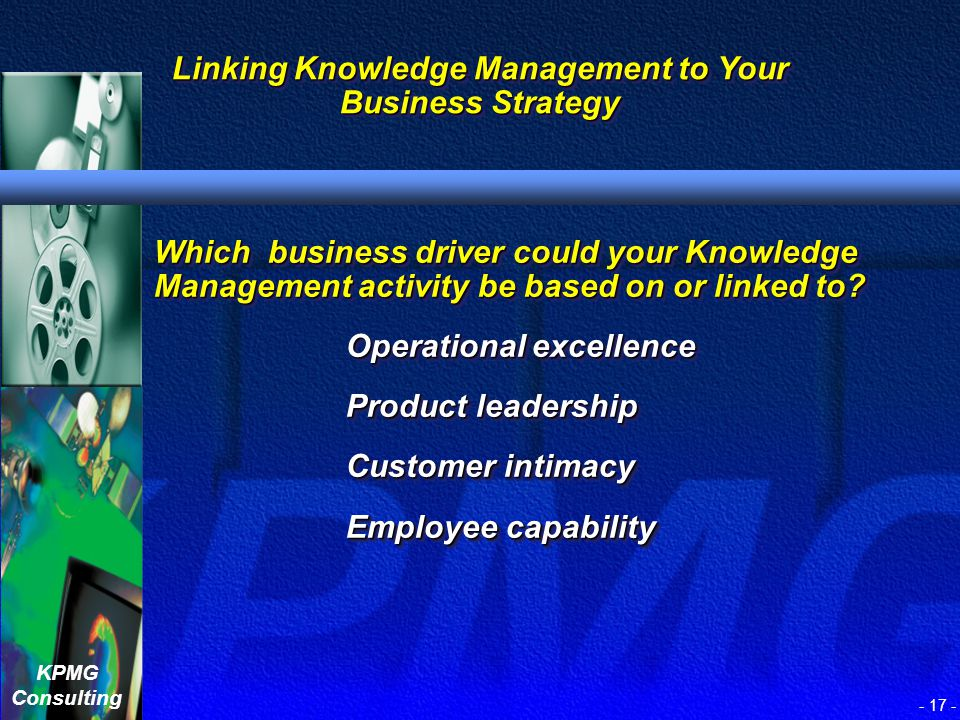 Linking Knowledge Management to Your Business Strategy