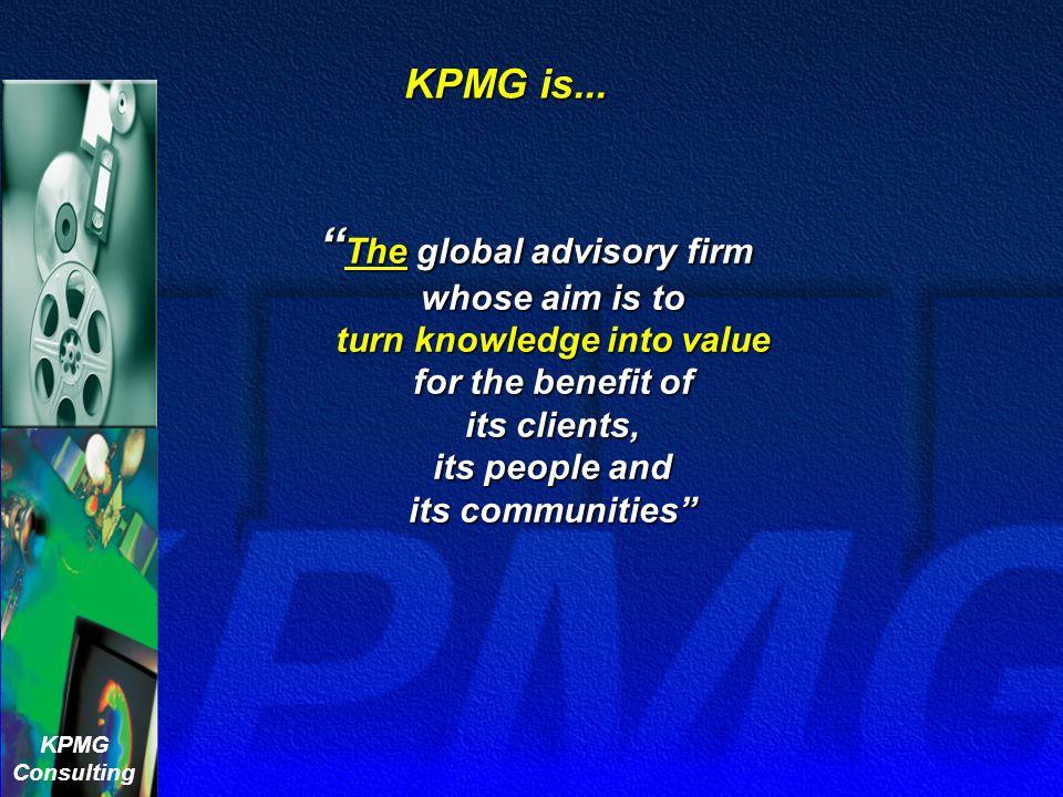 KPMG is...