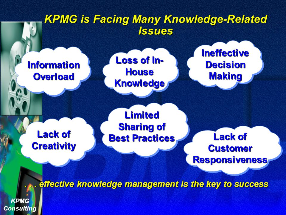 KPMG is Facing Many Knowledge-Related Issues