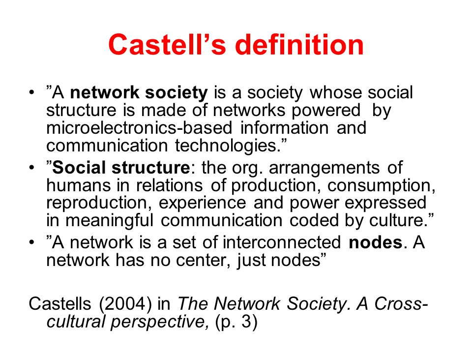 Castell's definition