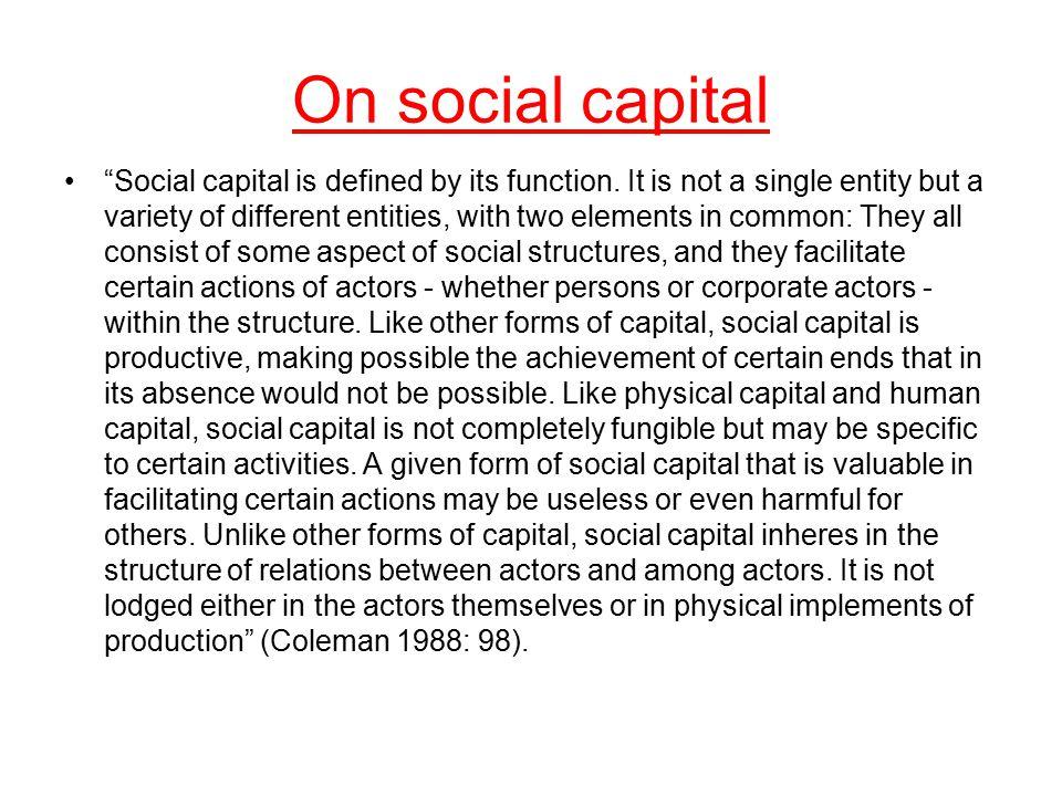 On social capital