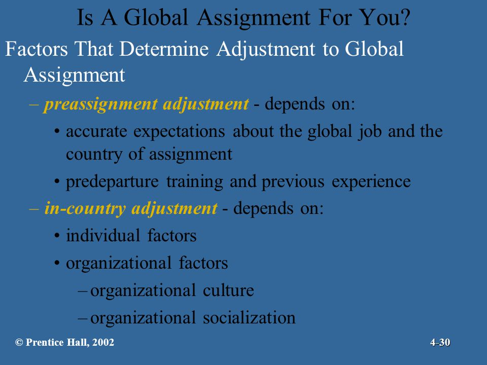 Is A Global Assignment For You
