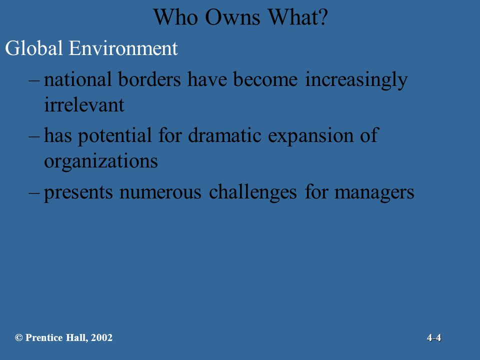 Who Owns What Global Environment