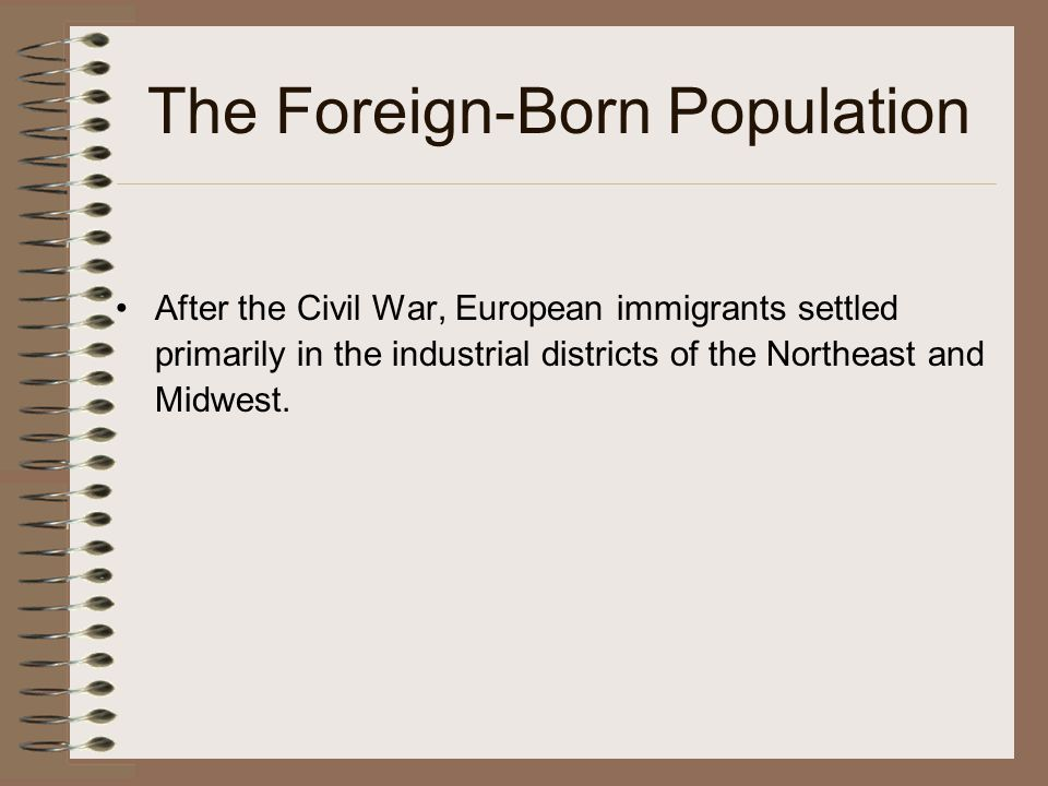 The Foreign-Born Population