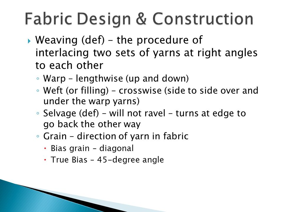 Fabric Design & Construction