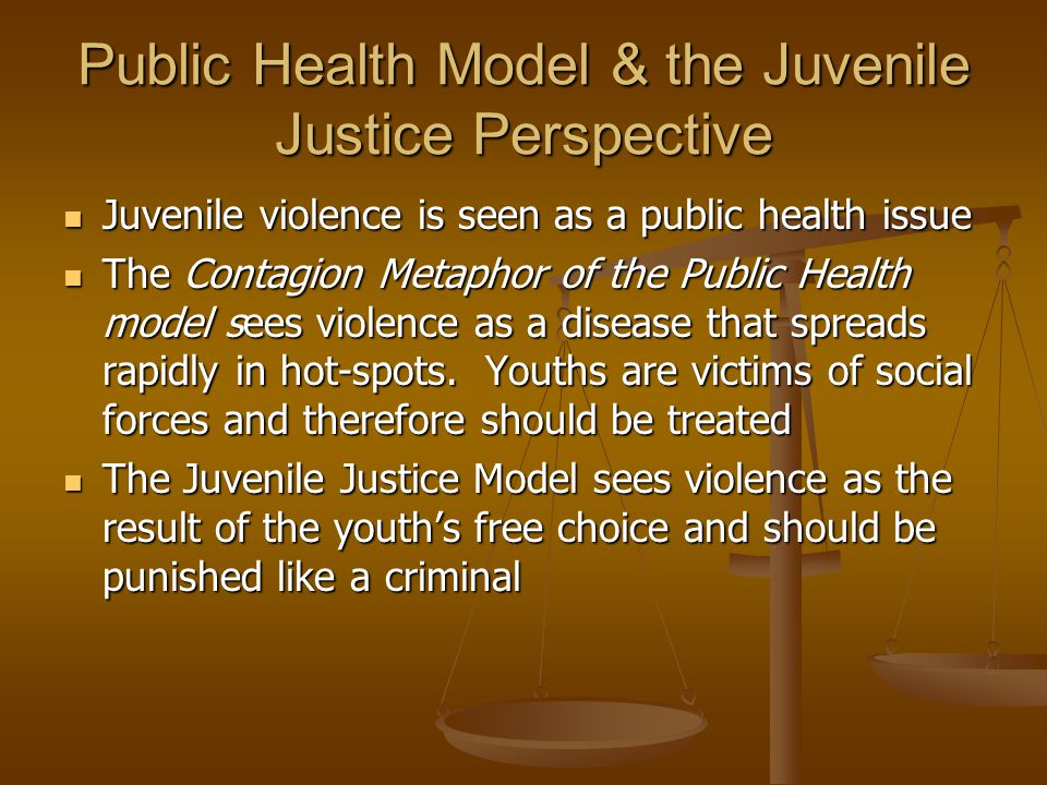 Public Health Model & the Juvenile Justice Perspective