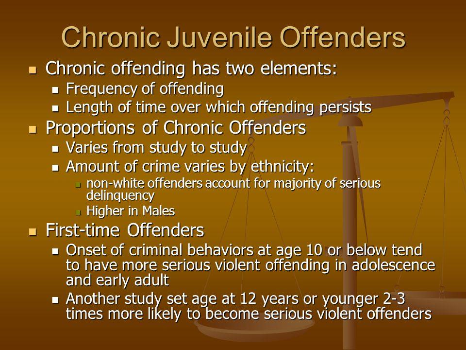 Chronic Juvenile Offenders