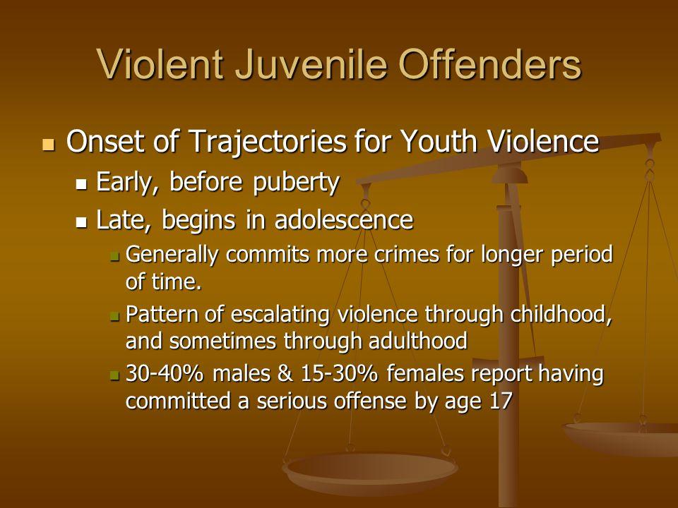 Violent Juvenile Offenders