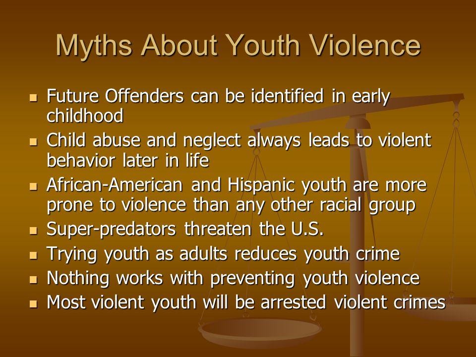 Myths About Youth Violence