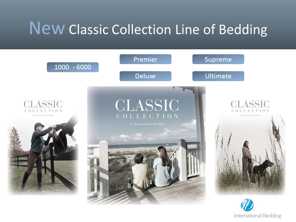 New Classic Collection Line of Bedding
