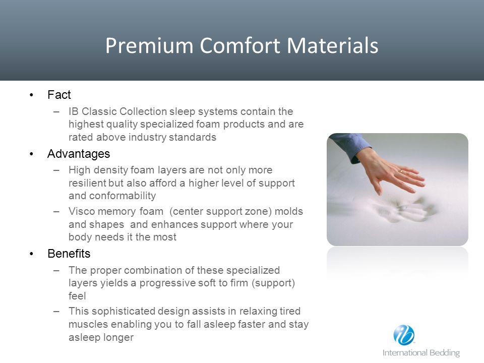 Premium Comfort Materials