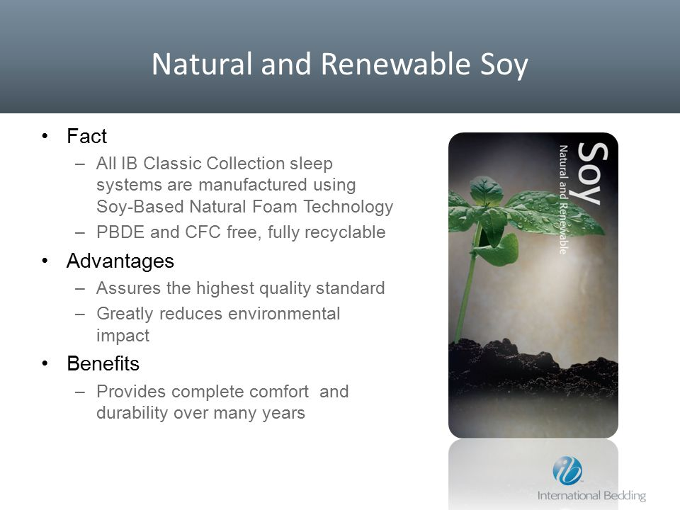 Natural and Renewable Soy