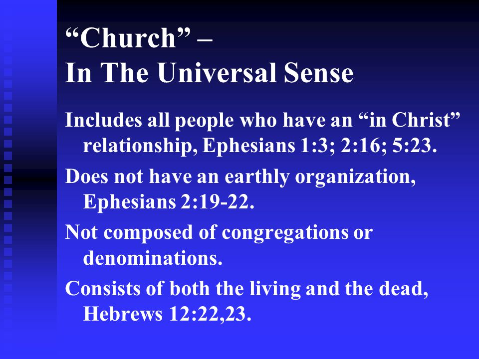 Church – In The Universal Sense