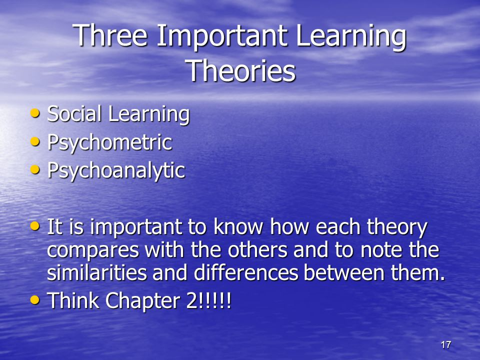 Three Important Learning Theories