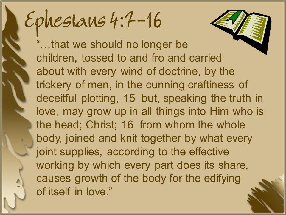 Ephesians 4:7-16