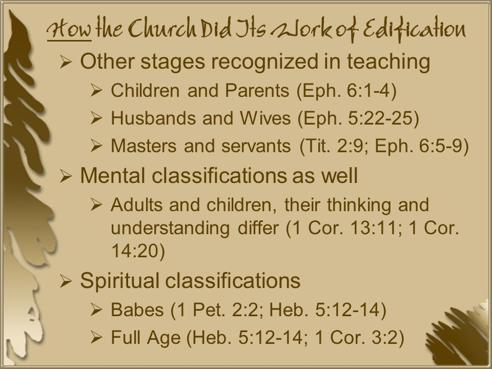 How the Church Did Its Work of Edification