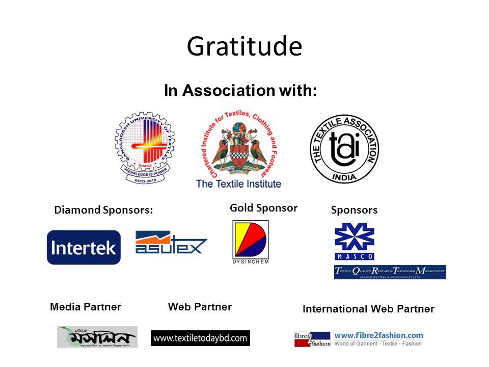 Gratitude In Association with: Diamond Sponsors: Gold Sponsor Sponsors
