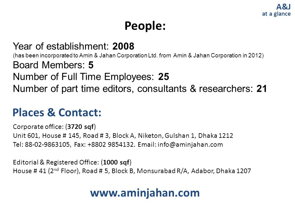 People: Places & Contact: www.aminjahan.com