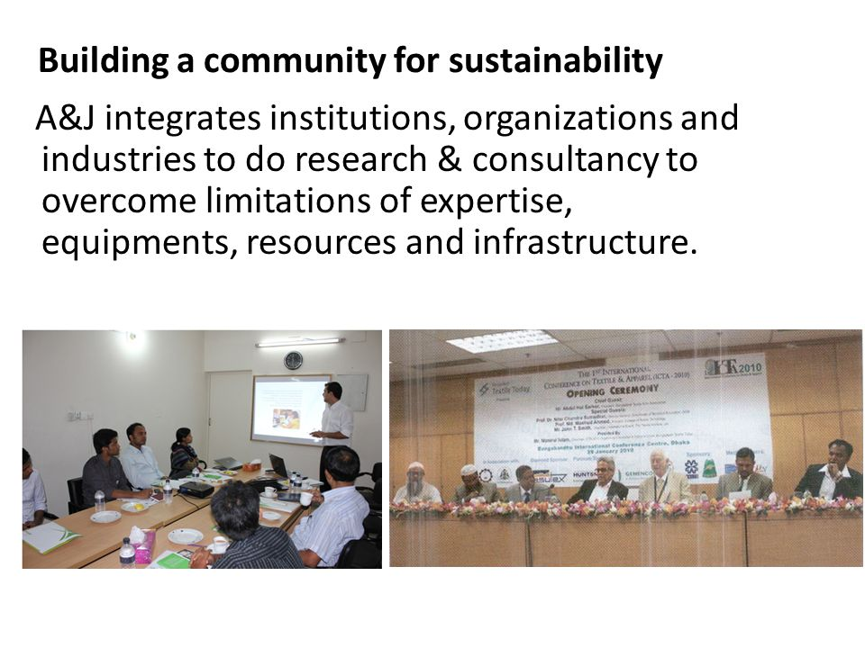Building a community for sustainability
