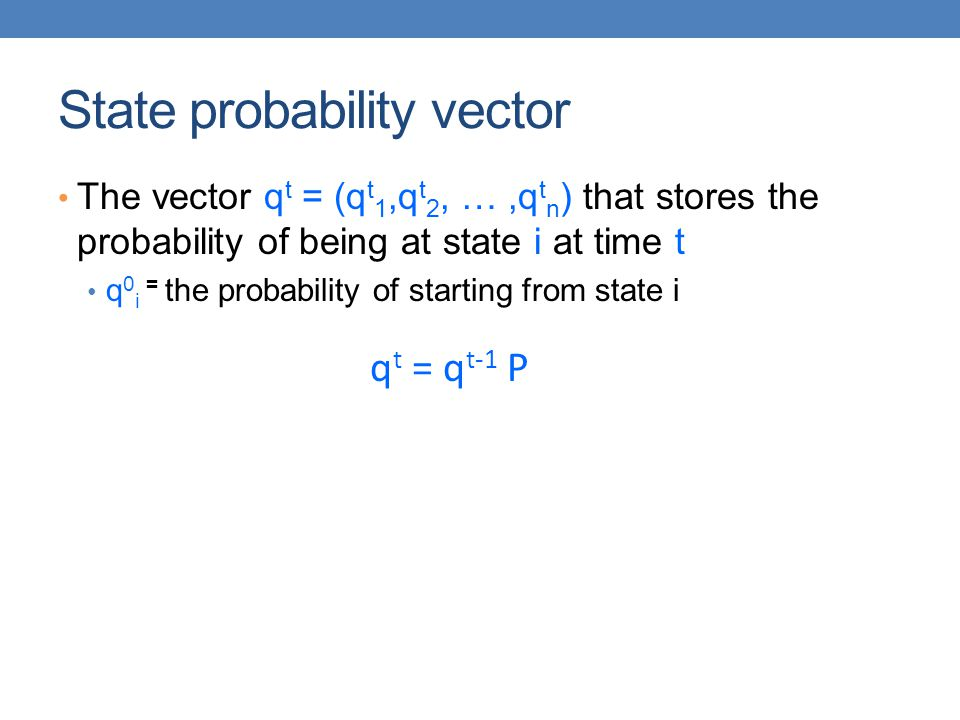 State probability vector