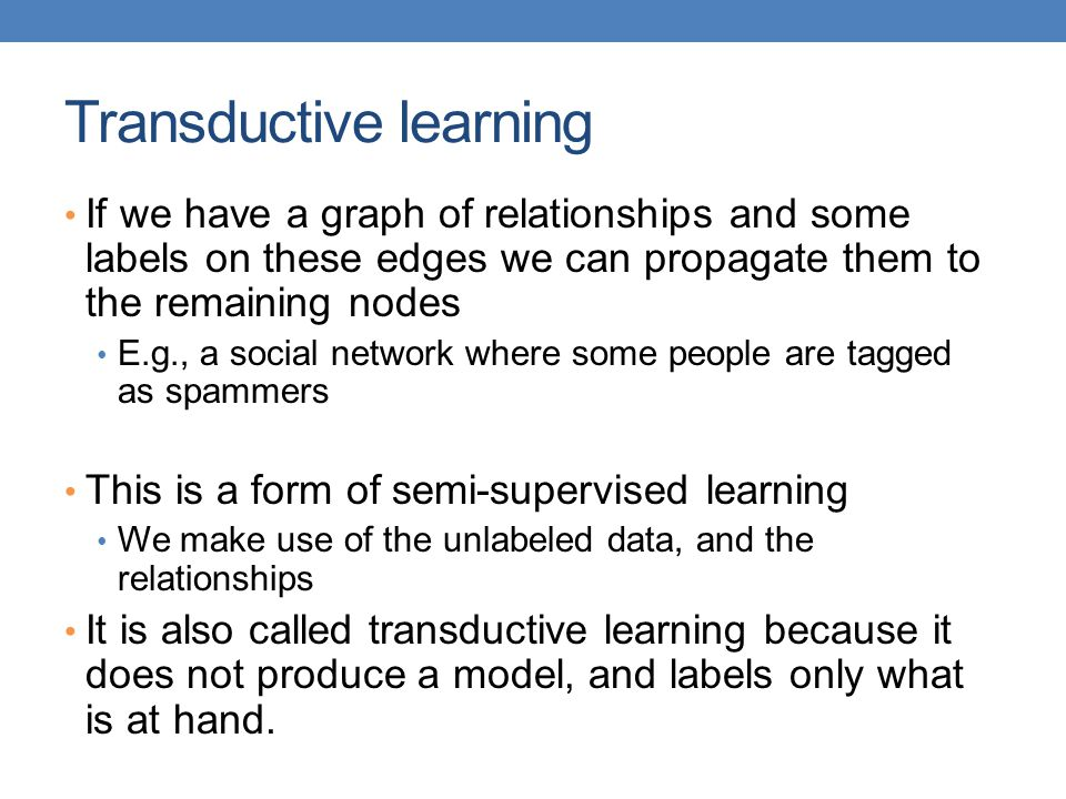 Transductive learning