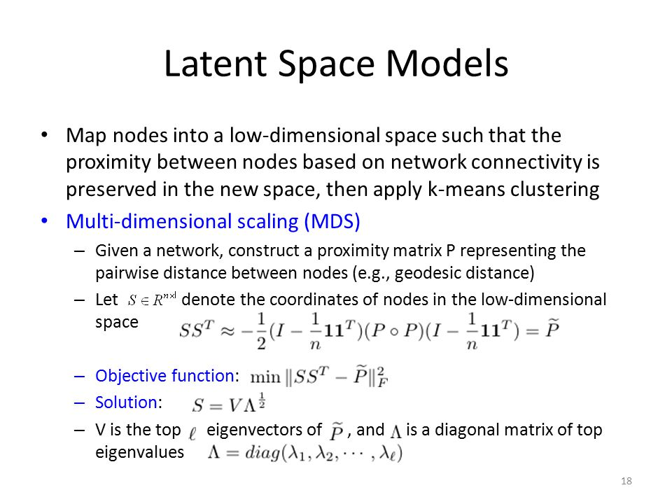 Latent Space Models