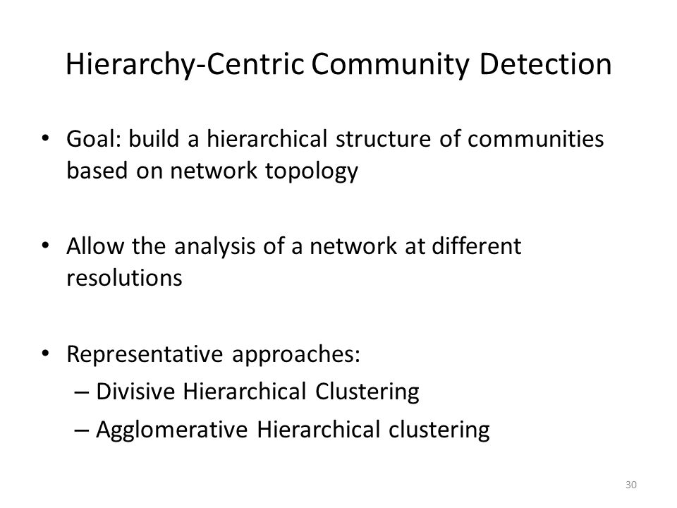 Hierarchy-Centric Community Detection