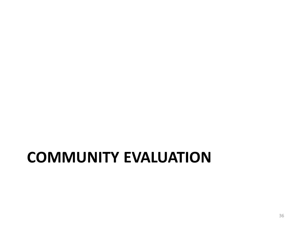 Community Evaluation