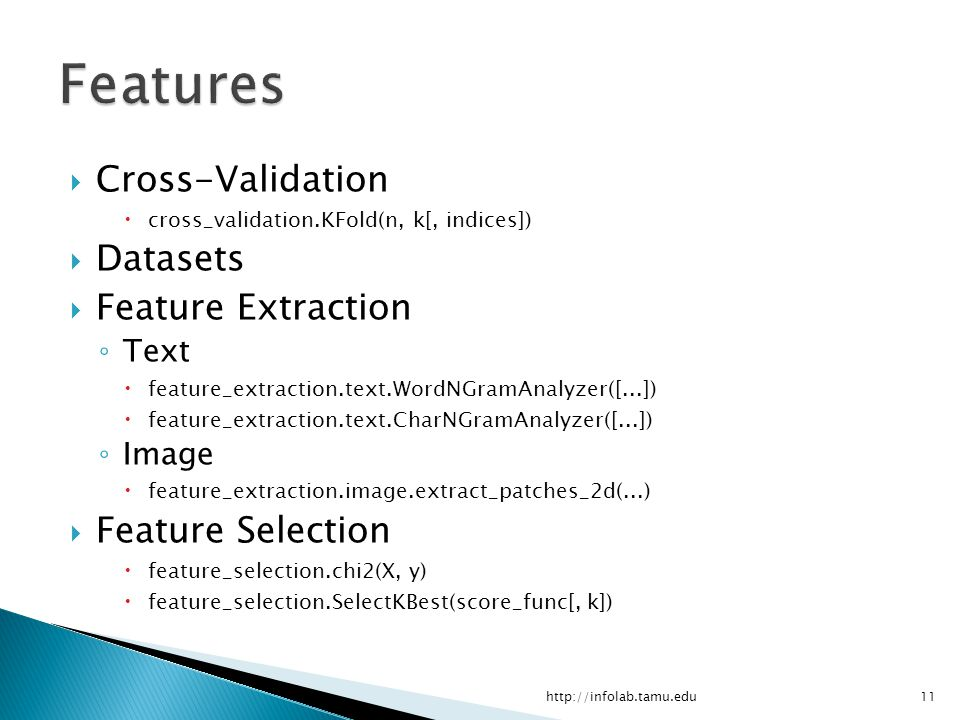 Features Cross-Validation Datasets Feature Extraction
