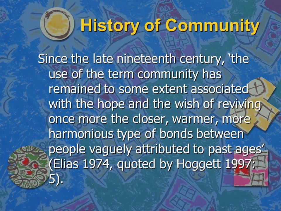 History of Community