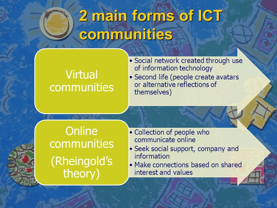 2 main forms of ICT communities