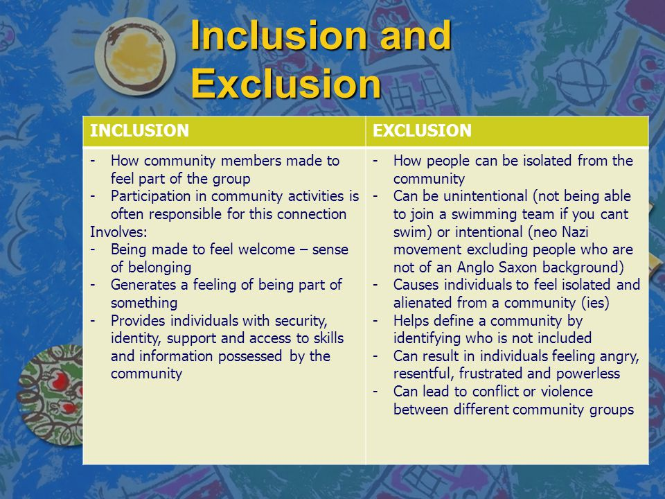 Inclusion and Exclusion