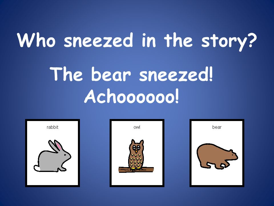 Who sneezed in the story