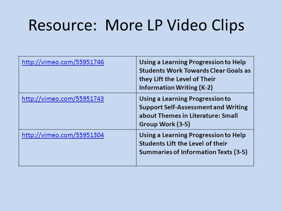 Resource: More LP Video Clips