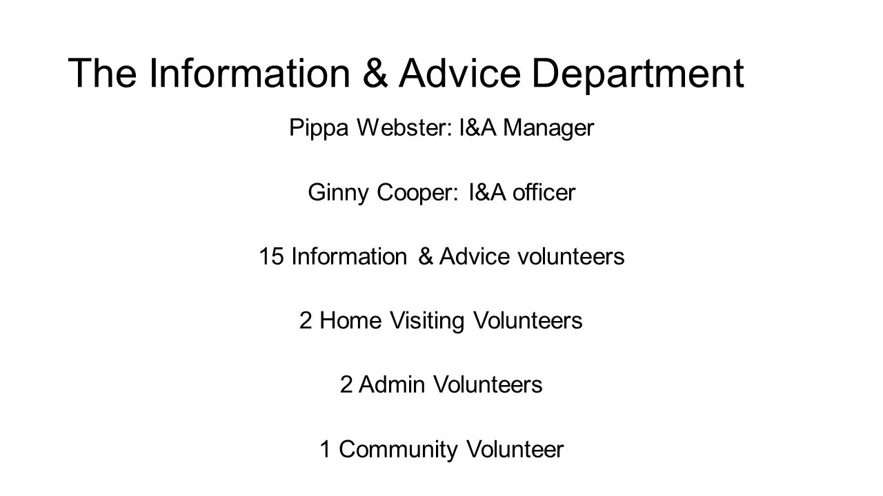 The Information & Advice Department