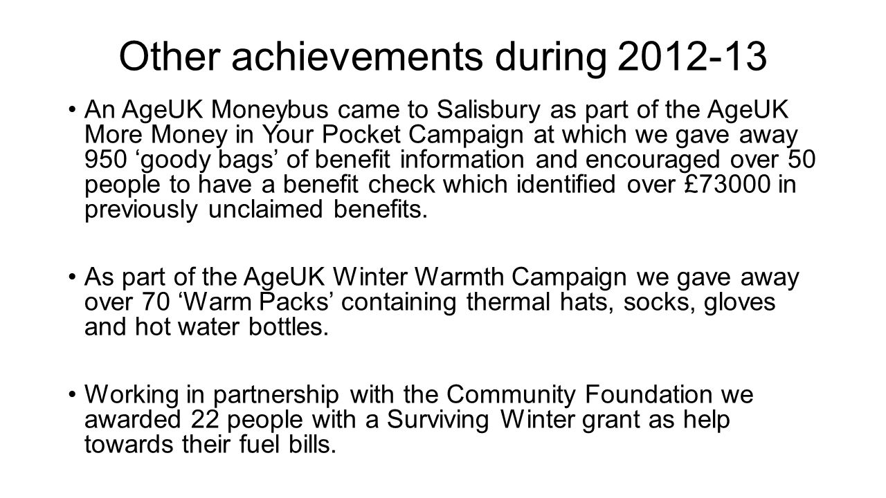 Other achievements during 2012-13