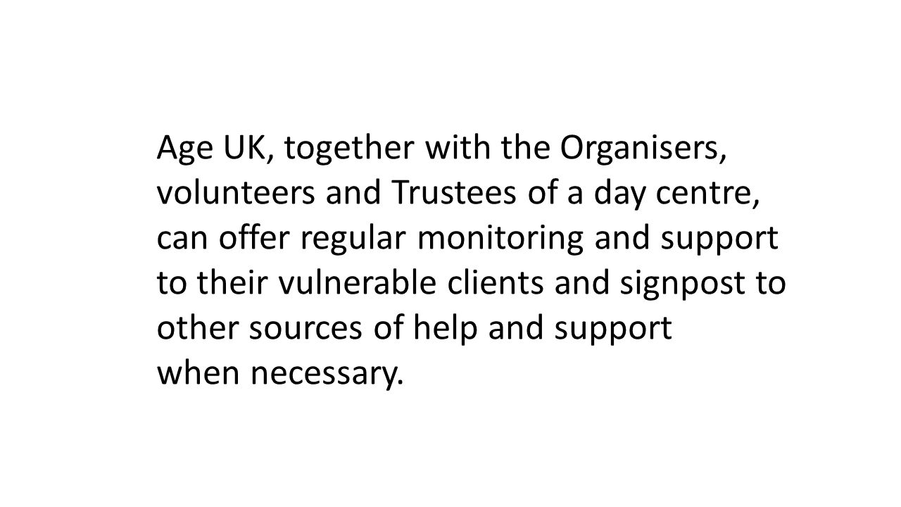 Age UK, together with the Organisers,