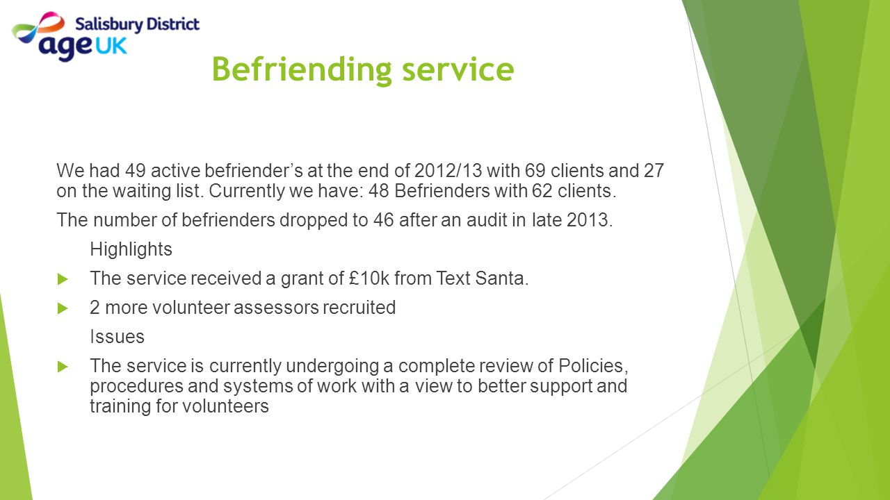 Befriending service
