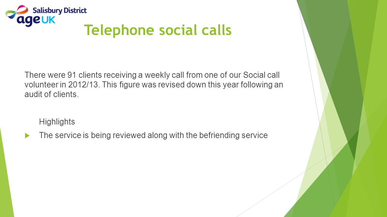 Telephone social calls