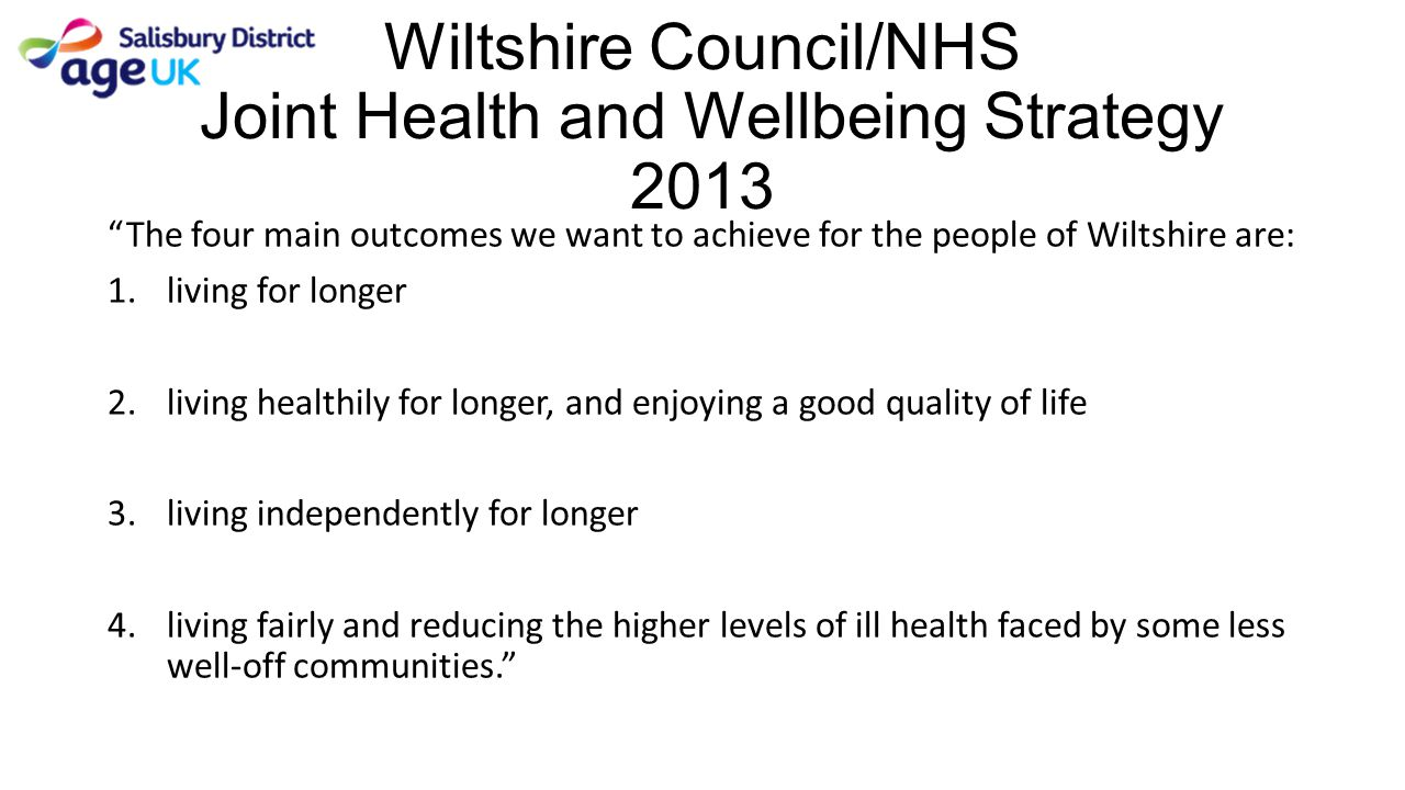 Wiltshire Council/NHS Joint Health and Wellbeing Strategy 2013