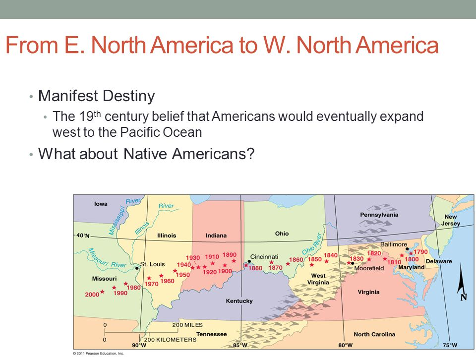 From E. North America to W. North America