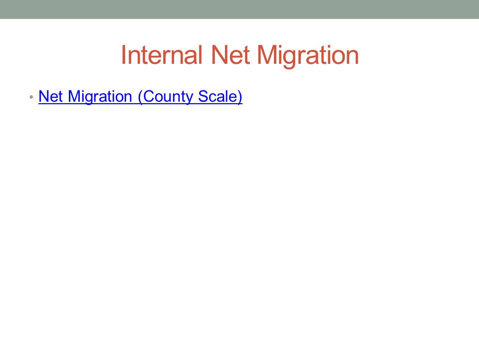 Internal Net Migration