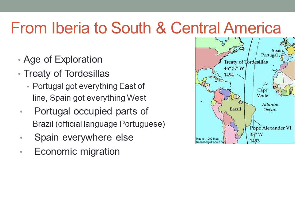From Iberia to South & Central America